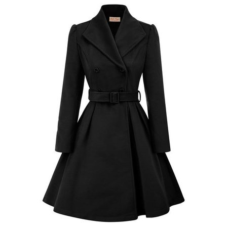 Black wool Jacket Coat