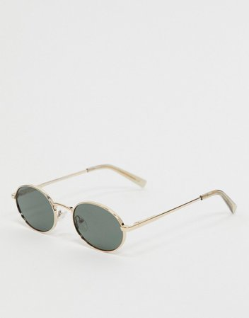 Le Specs round sunglasses in gold | ASOS