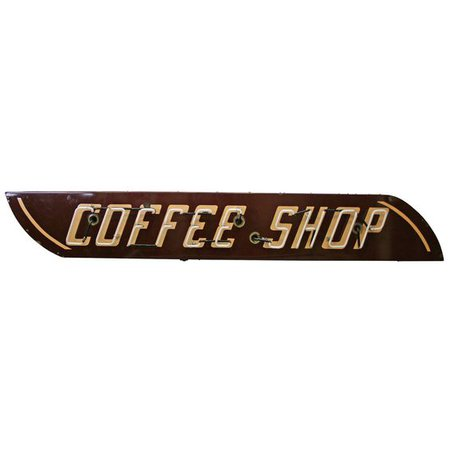 coffee shop neon sign brown png filler