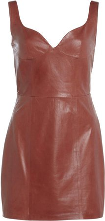 Zeynep Arcay Heart Mini Leather Dress