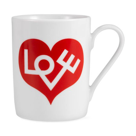 Alexander Girard Love Coffee Mug Red | MoMA Design Store