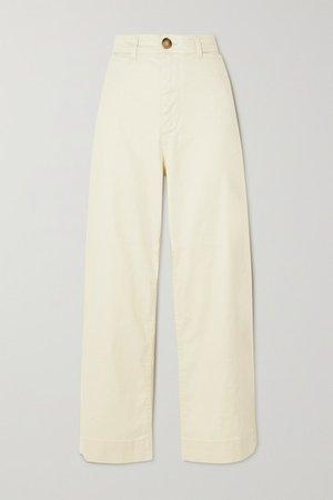 Molly Linen-blend Wide-leg Pants - Ecru
