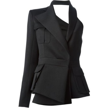 BALMAIN an off the shoulder design blazer