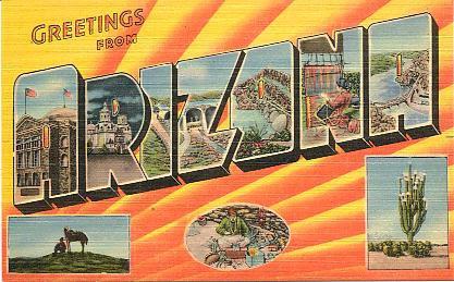 Historic U. S. Highway 66 Through Arizona on Vintage Postcards