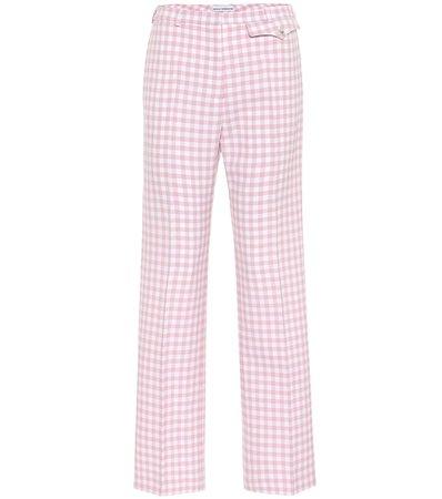 Paco Rabanne - Checked high-rise straight pants | Mytheresa