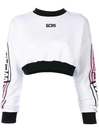 GCDS - CROPPED LOGO SWEATSHIRT