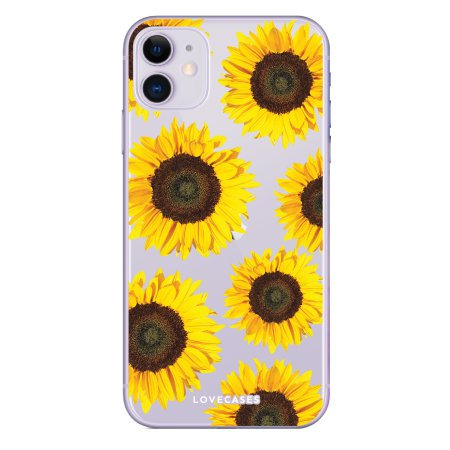 LoveCases iPhone 11 Sunflower Phone Case - Clear Yellow