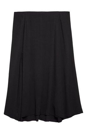 Reformation Zoe Side Slit Midi Skirt black