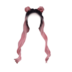 Pink Hair PNG Space Buns
