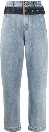 Essentiel Antwerp belted high waisted jeans