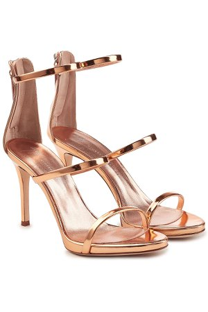 Alien Metallic Leather Stiletto Sandals Gr. IT 39.5