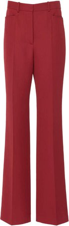 Wool-Blend Straight-Leg Trouser