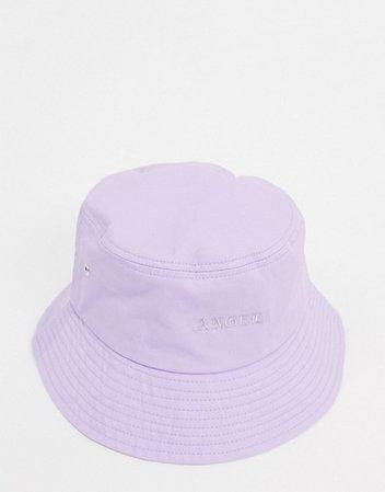 Bershka bucket hat in lilac   ASOS