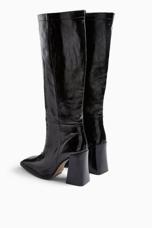 TAMBI Black Leather Knee Boots | Topshop black