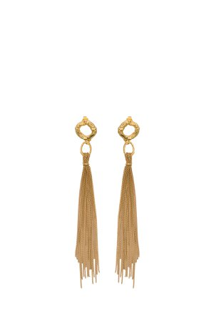 Forte Forte Earrings With Tassel And Quarz Charm