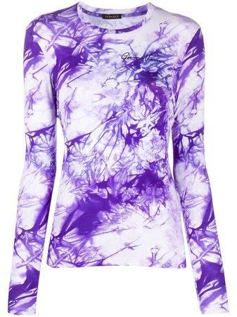 Versace tie-dye Long Sleeve T-shirt - Farfetch