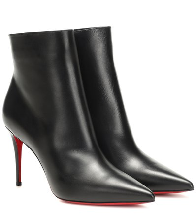 So Kate 85 Leather Ankle Boots - Christian Louboutin | Mytheresa