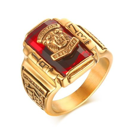 school ring red - Google Search