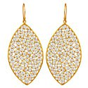 Large leaf earrings gold