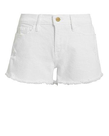 FRAME Le Cut-Off Denim Shorts   INTERMIX®
