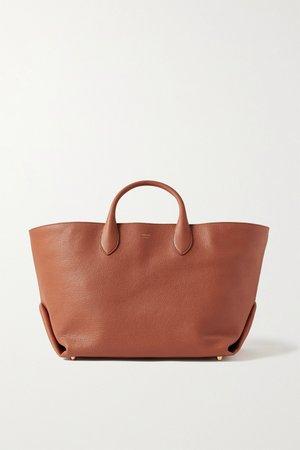 Orange Envelope Pleat medium textured-leather tote | Khaite | NET-A-PORTER