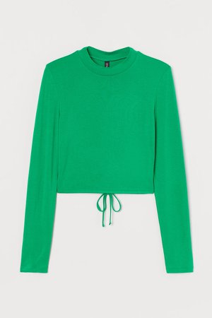 Open-backed Top - Green