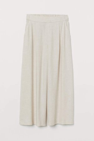 Wide-cut Pants - Beige