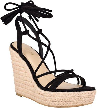 Helana Ankle Wrap Wedge Sandal