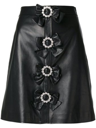 black Gucci skirt
