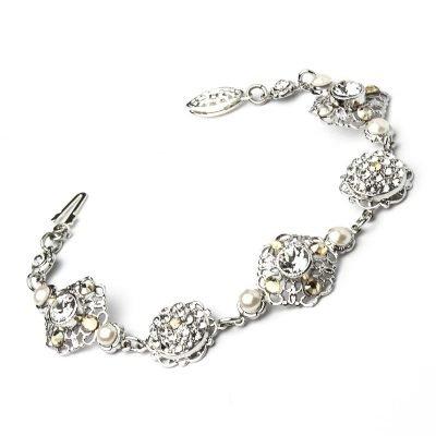 Crystal Earrings In Silver | Kleinfeld Bridal