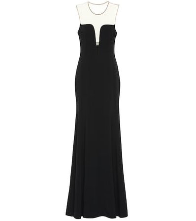 Silk twill gown