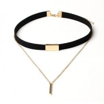 IFeel Jewellery New Black Velvet Choker Necklace Gold Chain Bar Chokers Chocker Necklace For Women black gold one size price from kilimall in Kenya - Yaoota!