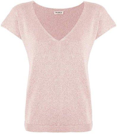 Blanca v-neck knit T-shirt