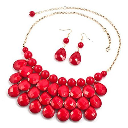 red statement necklace - Google Search