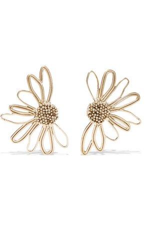 STVDIO | Bouquet gold-tone earrings | NET-A-PORTER.COM