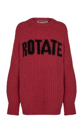 Brandy Oversized Logo-Knit Wool-Blend Sweater By Rotate | Moda Operandi