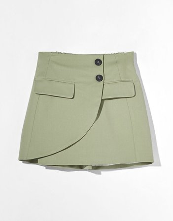 Wrap mini skirt - Woman | Bershka