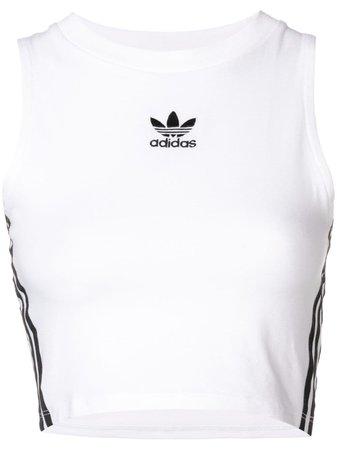Adidas Regata Cropped Com Logo - Farfetch