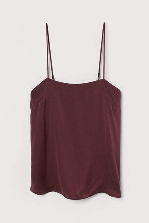 Silk Camisole Top - Pink
