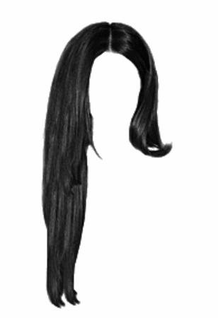 long black hair edit png