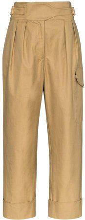 City high-waisted cargo trousers