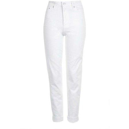 Topshop Moto White Mom Jeans