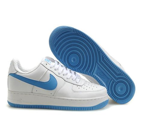 Mens US Nike Air Force 1 25th Low Shoes White Light Blue | Sale