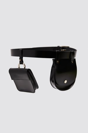 LEATHER BELT WITH PURSES | ZARA United Kingdom