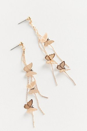 Fly Away Butterfly Drop Earring | Urban Outfitters