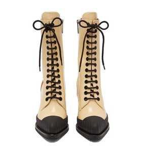Rylee кожаные сапоги на шнуровке / Chloé