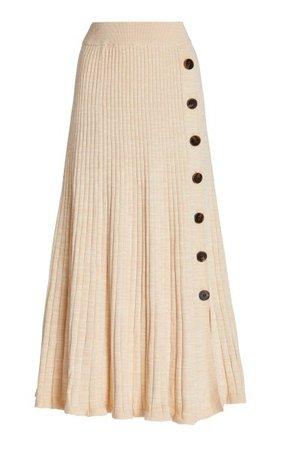 Hettie Ribbed Cotton Maxi Skirt By Anna Quan | Moda Operandi