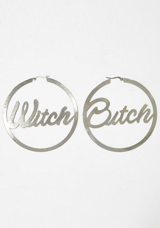 Witch Bitch Hoop Earrings | Dolls Kill