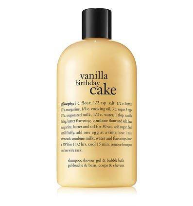 vanilla birthday cake | shampoo, shower gel & bubble bath | philosophy