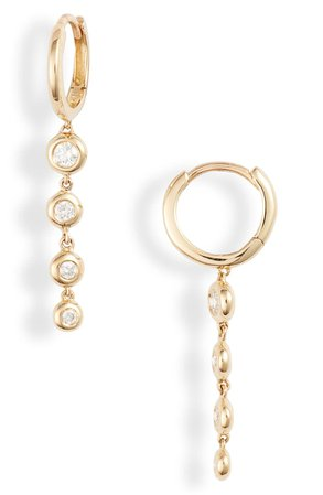 Bony Levy Monaco Bezel Diamond Drop Earrings (Nordstrom Exclusive) | Nordstrom